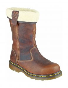 Dr Martens Rosa Fur-Lined Ladies Rigger Safety Boot