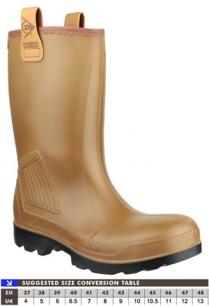 Dunlop Purofort Rig Air Full Safety Wellingtons (Fur Lined)