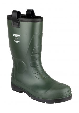 Amblers FS97 Green Rigger Safety Wellingtons