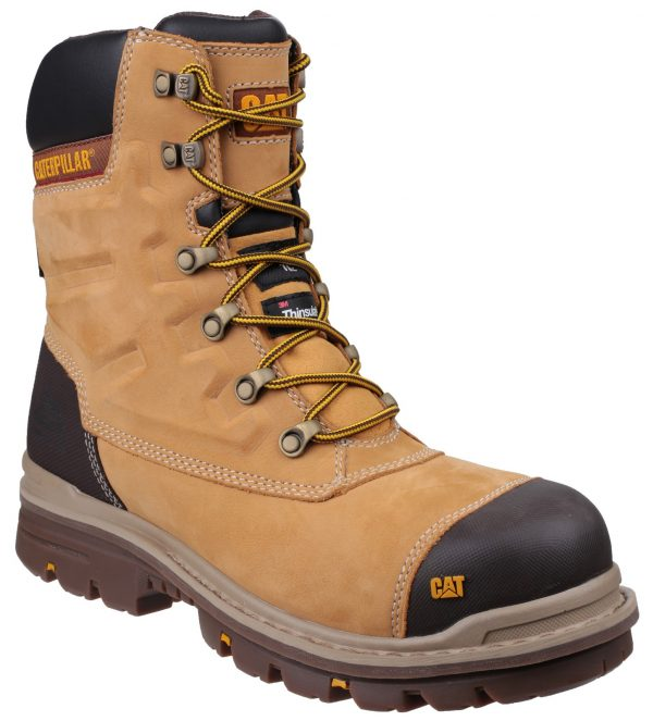 "Caterpillar Safety Boots Premier 8"" (Honey)"
