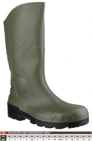Dunlop Devon Green Safety Wellingtons