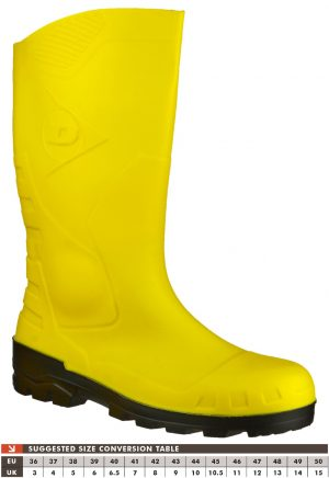 Dunlop Devon Yellow Safety Wellingtons
