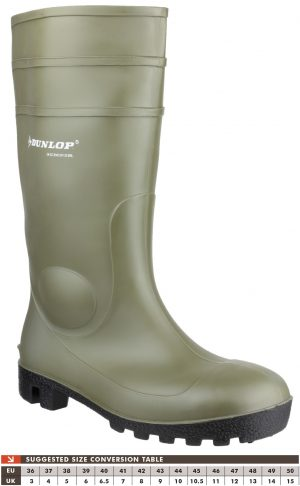Dunlop Protomastor Full Safety Wellingtons (Green)