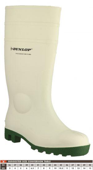 Dunlop Protomastor White Safety Wellingtons