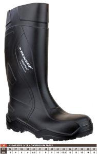 Dunlop Purofort Full Safety Wellingtons (Black)