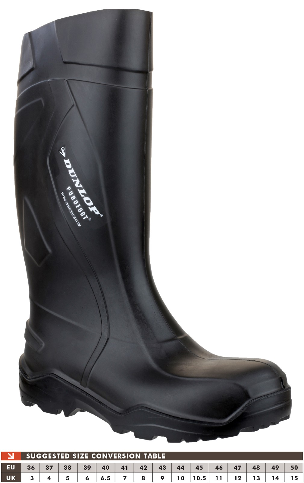 Dunlop Purofort Full Safety Wellingtons (Black)
