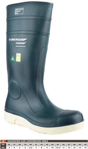 Dunlop Purofort Comfort Grip Blue Full Safety Wellingtons