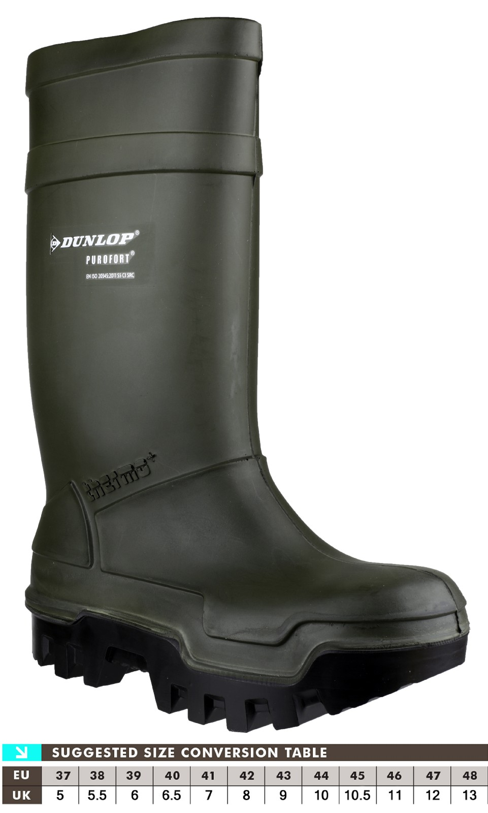 Dunlop Purofort Thermo Full Safety Wellingtons Green