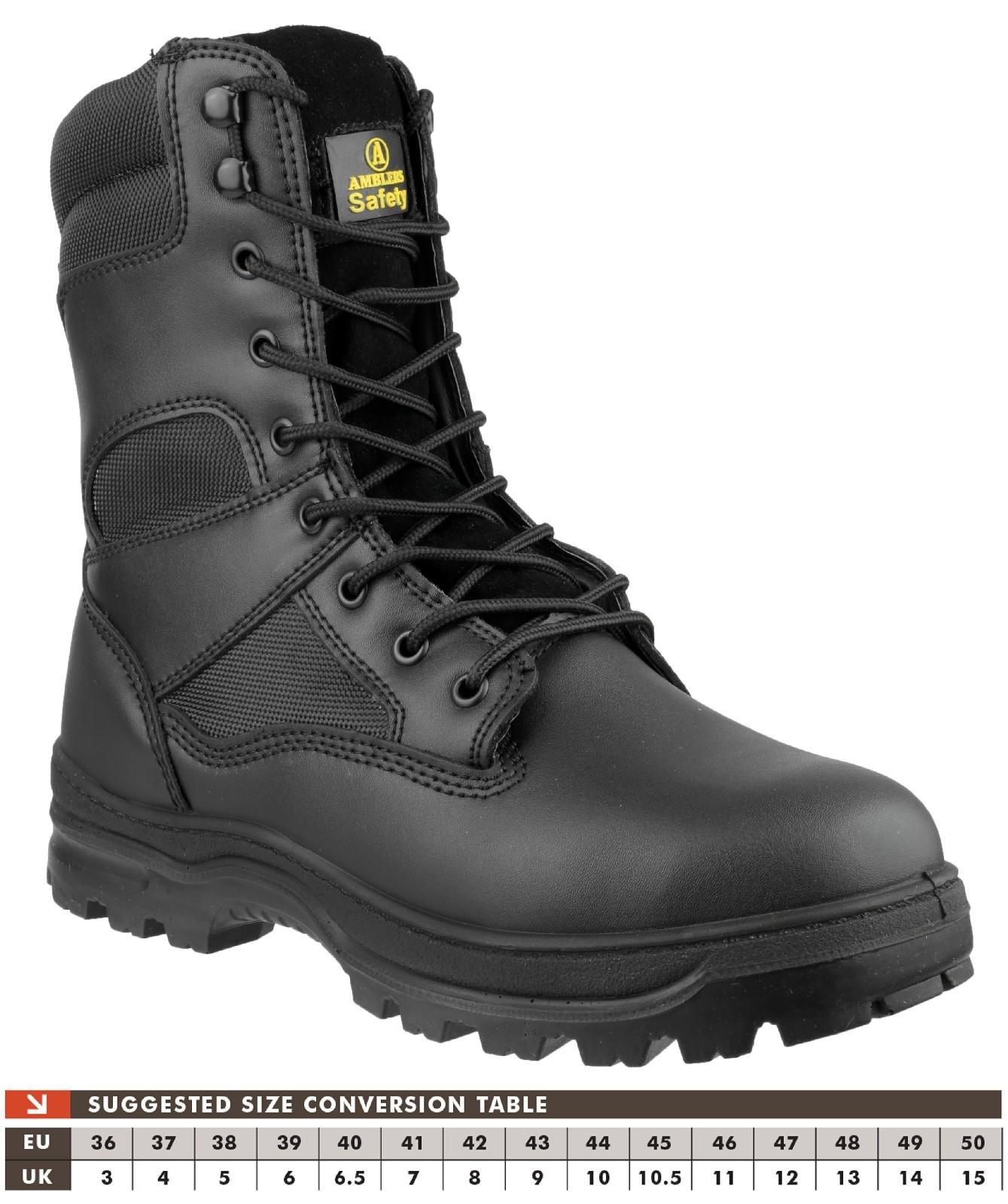 Amblers Safety FS008 S3 Side Zip Hi-Boot Black Size 42 C014xxQ5
