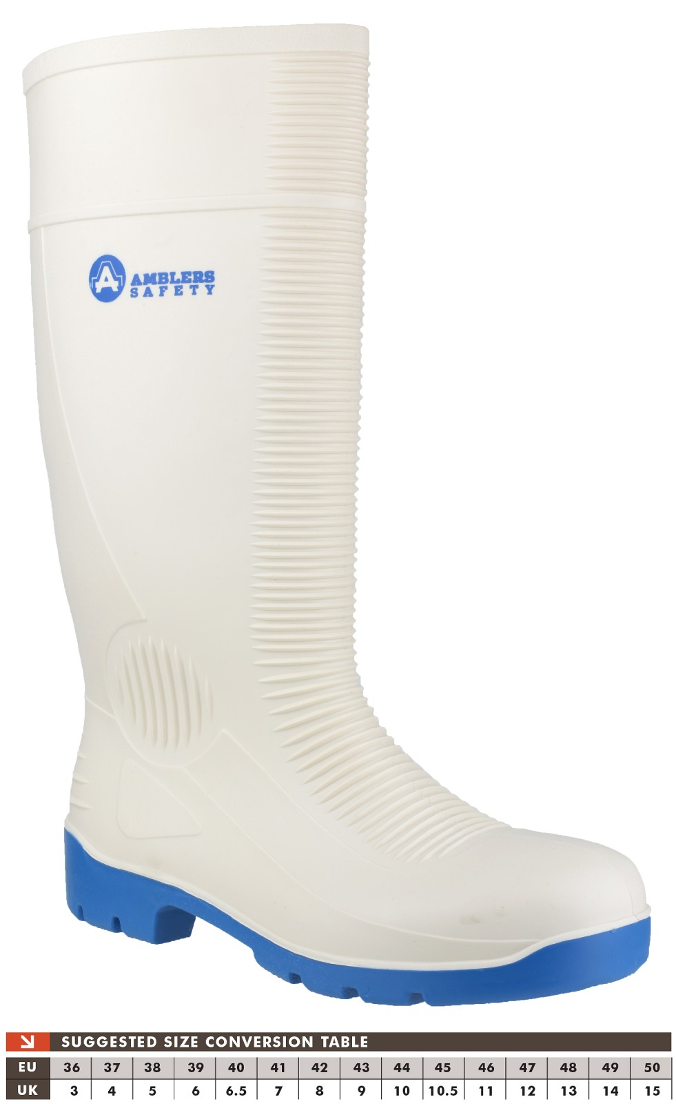 Amblers Safety FS98 Mens S4 SRA Safety Wellington Boots White 47 N23MRo